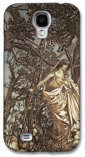 Never So Weary Never So Woeful Illustration To A Midsummer Night S Dream Galaxy S4 Case by Arthur Rackham