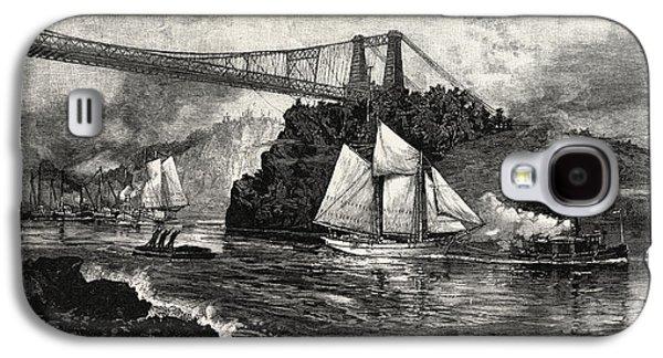 New Brunswick, Suspension Bridge Galaxy S4 Case by Canadian School