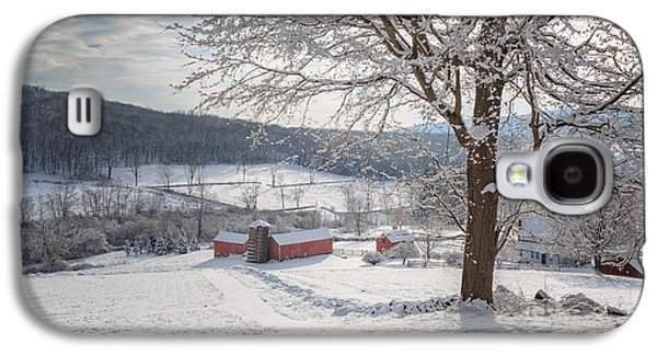 New England Winter Farms Morning Galaxy S4 Case by Bill Wakeley