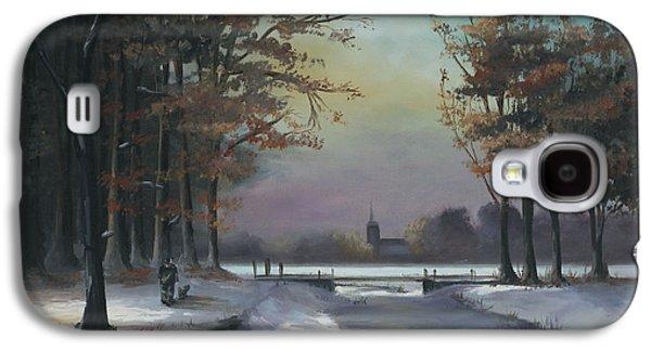 New England Winter Walk Galaxy S4 Case
