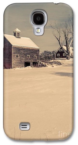 New Hampshire Winter Farm Scene Galaxy S4 Case by Edward Fielding