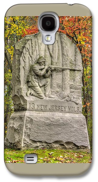 New Jersey At Gettysburg - 13th Nj Volunteer Infantry Near Culps Hill Autumn Galaxy S4 Case by Michael Mazaika