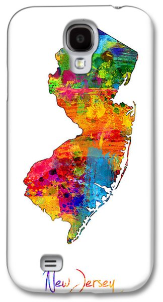 New Jersey Map Galaxy S4 Case