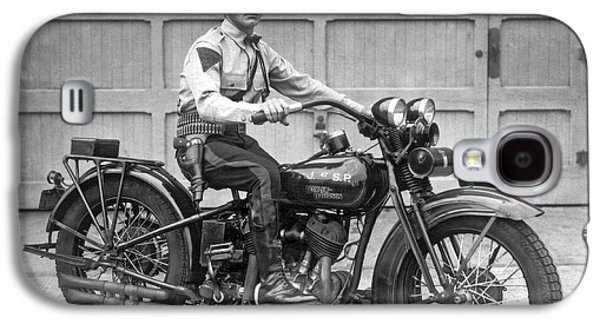 New Jersey Motorcycle Trooper Galaxy S4 Case by Underwood Archives