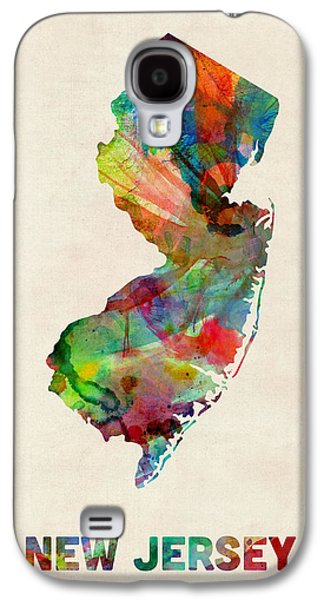 New Jersey Watercolor Map Galaxy S4 Case