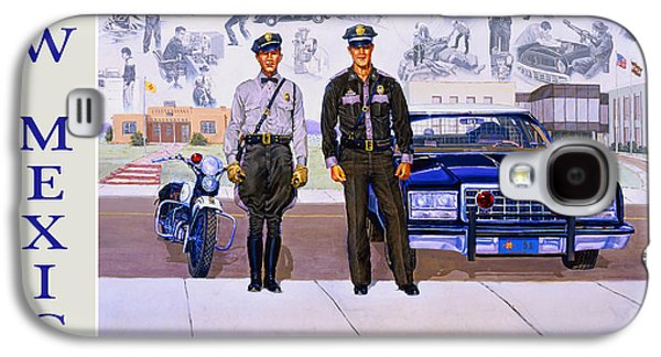 New Mexico State Police Poster Galaxy S4 Case by Randy Follis