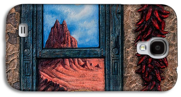 New Mexico Window Gold Galaxy S4 Case by Ricardo Chavez-Mendez