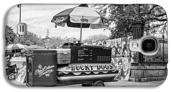 New Orleans - Lucky Dogs Bw Galaxy S4 Case by Steve Harrington