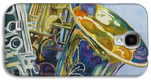 Saxophone Galaxy S4 Case - New Orleans Reeds by Jenny Armitage