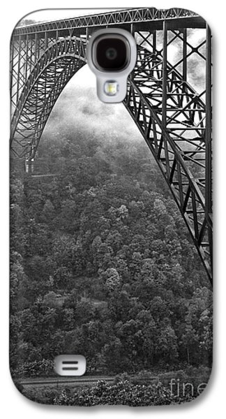 New River Gorge Bridge Black And White Galaxy S4 Case by Thomas R Fletcher