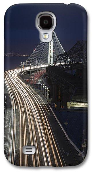 New San Francisco Oakland Bay Bridge Vertical Galaxy S4 Case by Adam Romanowicz