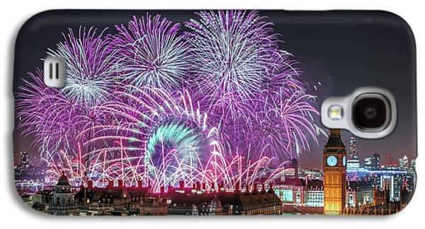 New Year Fireworks Galaxy S4 Case by Stewart Marsden