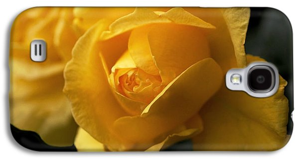 New Yellow Rose Galaxy S4 Case by Rona Black