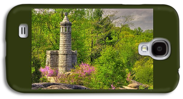 New York At Gettysburg - Monument To 12th / 44th Ny Infantry Regiments-1a Little Round Top Spring Galaxy S4 Case by Michael Mazaika