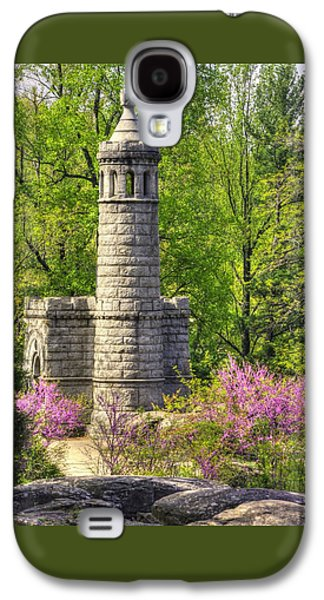 New York At Gettysburg - Monument To 12th / 44th Ny Infantry Regiments-2a Little Round Top Spring Galaxy S4 Case by Michael Mazaika