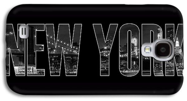 New York City Brooklyn Bridge Bw Galaxy S4 Case by Melanie Viola