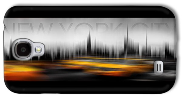 New York City Cabs Abstract Galaxy S4 Case by Az Jackson