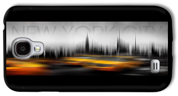 New York City Cabs Abstract Galaxy S4 Case