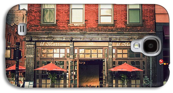 New York City - Cafe In Tribeca Galaxy S4 Case by Vivienne Gucwa