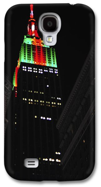 New York City Christmas Empire State Building Galaxy S4 Case by Terry DeLuco