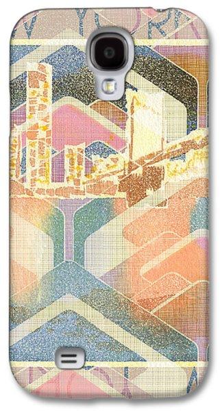 New York City In Pastel Tones - Manhattan Bridge Galaxy S4 Case by Beverly Claire Kaiya