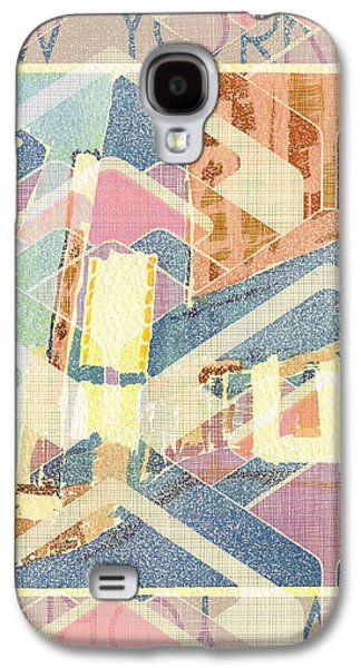 New York City In Pastel Tones - Times Square Galaxy S4 Case by Beverly Claire Kaiya