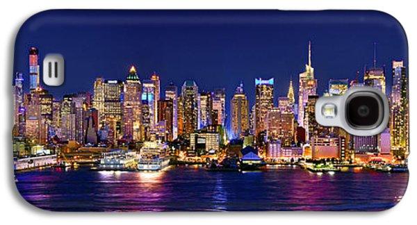 New York City Nyc Midtown Manhattan At Night Galaxy S4 Case