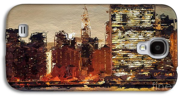 New York City Skyline Abstract 2 Galaxy S4 Case by Anthony Fishburne