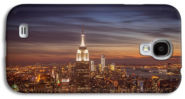 City Sunset Galaxy S4 Case - New York City Skyline And Empire State Building At Dusk by Vivienne Gucwa