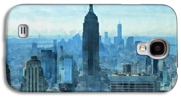 New York City Skyline Summer Day Galaxy S4 Case by Dan Sproul