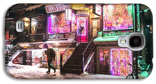 New York City - Snow And Colorful Lights At Night Galaxy S4 Case by Vivienne Gucwa