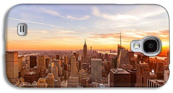 City Sunset Galaxy S4 Case - New York City - Sunset Skyline by Vivienne Gucwa
