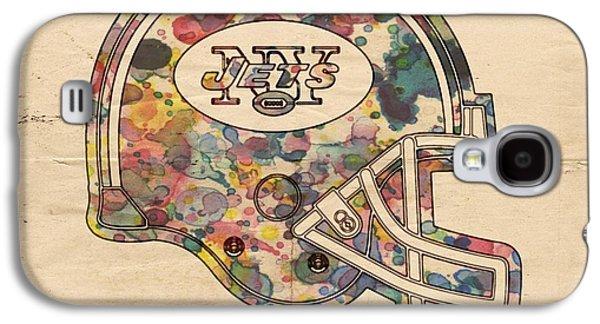 New York Jets Vintage Helmet Galaxy S4 Case by Florian Rodarte