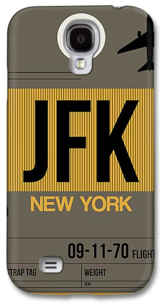 Travel Galaxy S4 Case - New York Luggage Tag Poster 3 by Naxart Studio