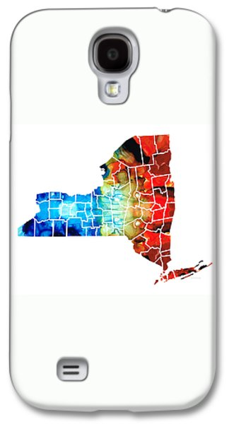 New York - Map By Sharon Cummings Galaxy S4 Case