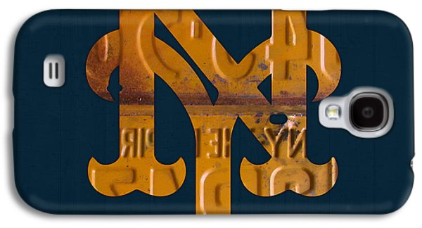 New York Mets Baseball Vintage Logo License Plate Art Galaxy S4 Case
