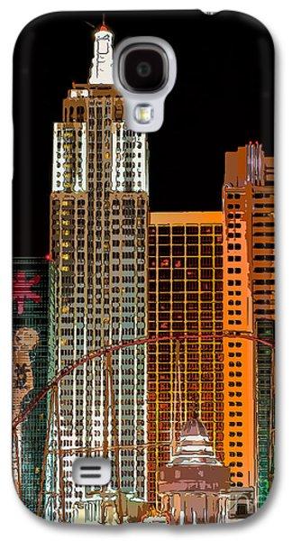 New York-new York Hotel Las Vegas - Pop Art Style Galaxy S4 Case by Ian Monk