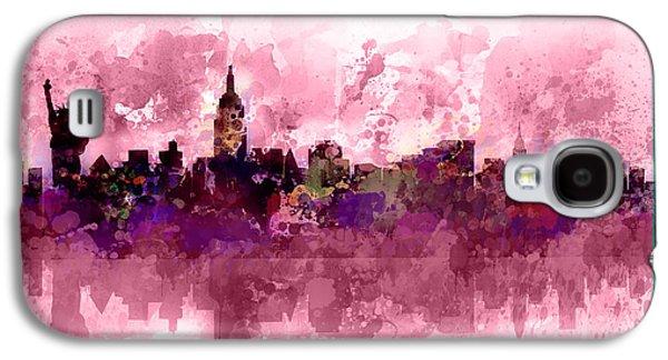 New York Skyline Purple Galaxy S4 Case