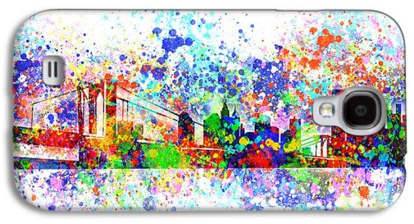 New York Skyline Splats Galaxy S4 Case