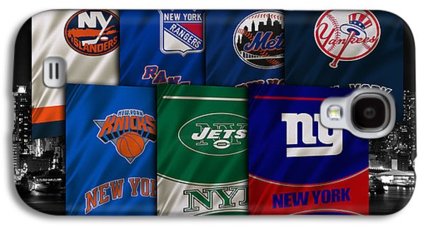 New York Sports Teams Galaxy S4 Case by Joe Hamilton