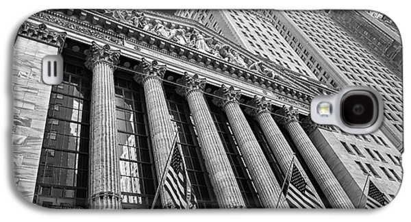 New York Stock Exchange Wall Street Nyse Bw Galaxy S4 Case by Susan Candelario