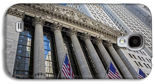 New York Stock Exchange Wall Street Nyse  Galaxy S4 Case by Susan Candelario