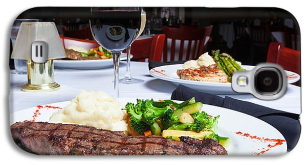 New York Strip Steak With Mashed Potatoes And Mixed Vegetables 4 Galaxy S4 Case by Erin Cadigan