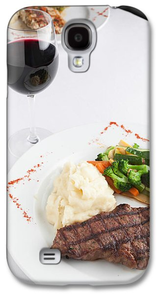 New York Strip Steak With Mashed Potatoes And Mixed Vegetables Galaxy S4 Case by Erin Cadigan