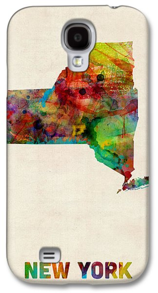 New York Watercolor Map Galaxy S4 Case by Michael Tompsett