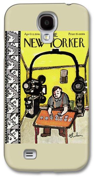 New Yorker April 13th, 1946 Galaxy S4 Case by Abe Birnbaum