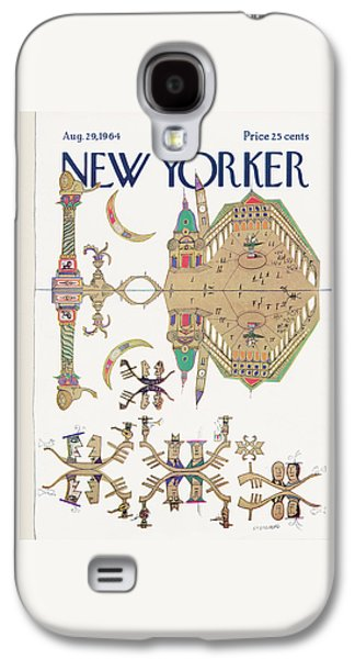 New Yorker August 29th, 1964 Galaxy S4 Case by Saul Steinberg