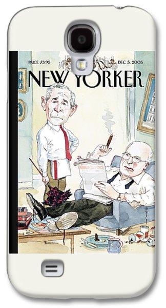 New Yorker December 5th, 2005 Galaxy S4 Case by Barry Blitt