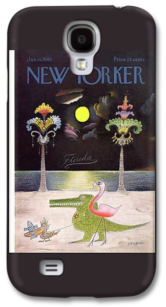New Yorker January 16th, 1965 Galaxy S4 Case by Saul Steinberg