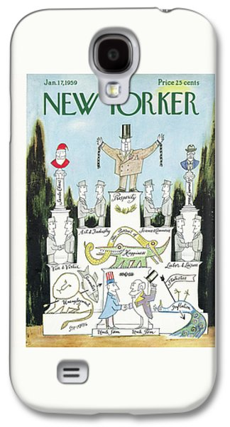 New Yorker January 17th, 1959 Galaxy S4 Case by Saul Steinberg